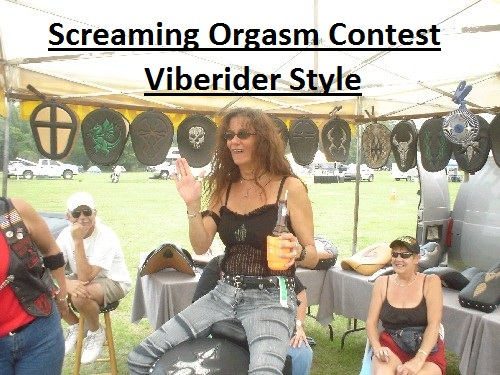 Screaming Orgasm Contest Vibe Rider Style